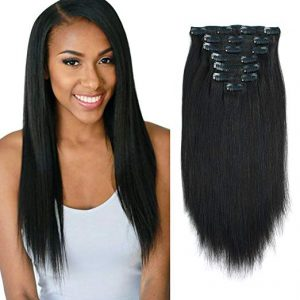 Lovrio Real Remy Thick Double Weft Clip in Human Extensions